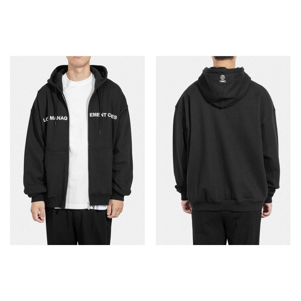 LMC CAPITAL ZIP-UP HOODIE black