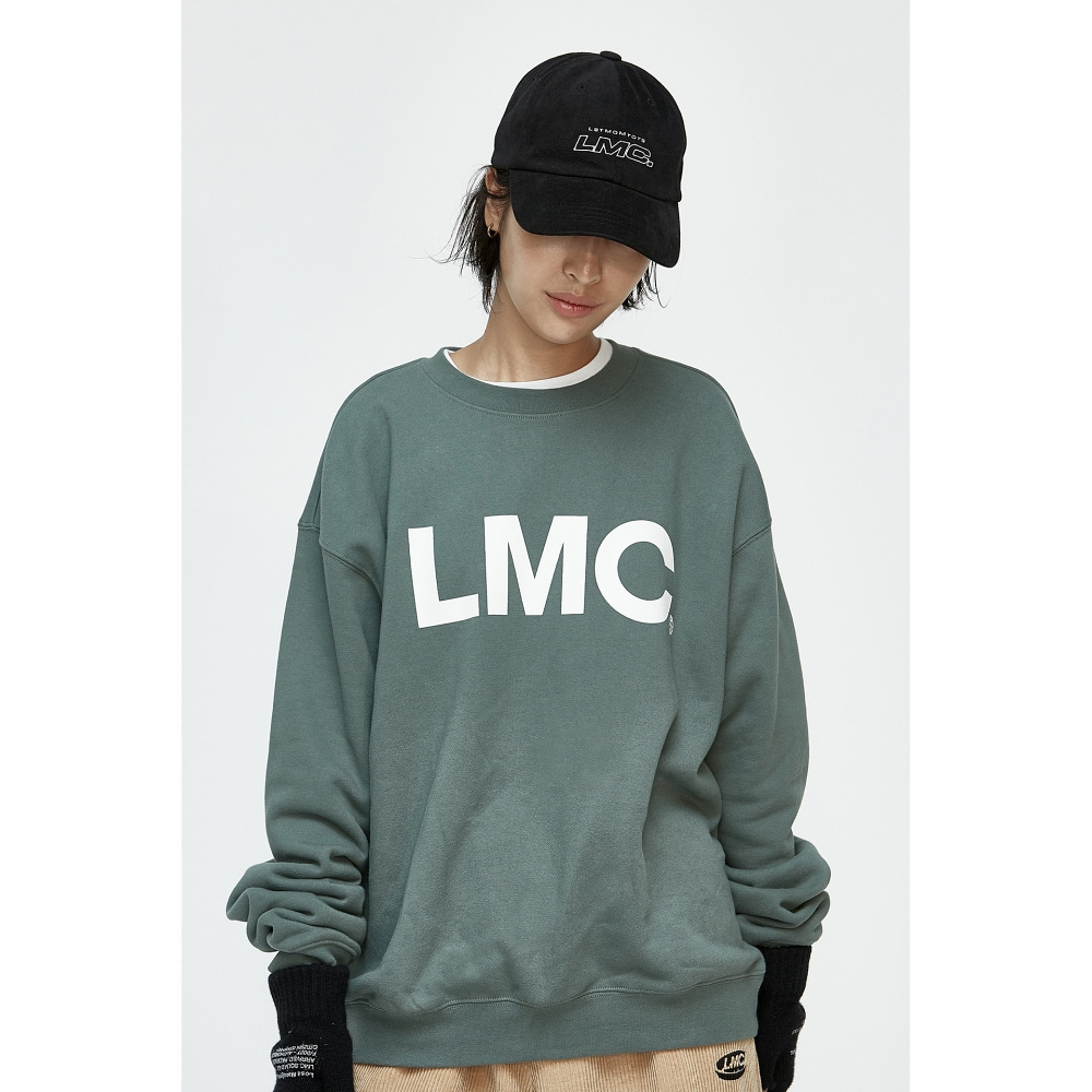 LMC ITALIC OUTLINE 6 PANEL CAP black
