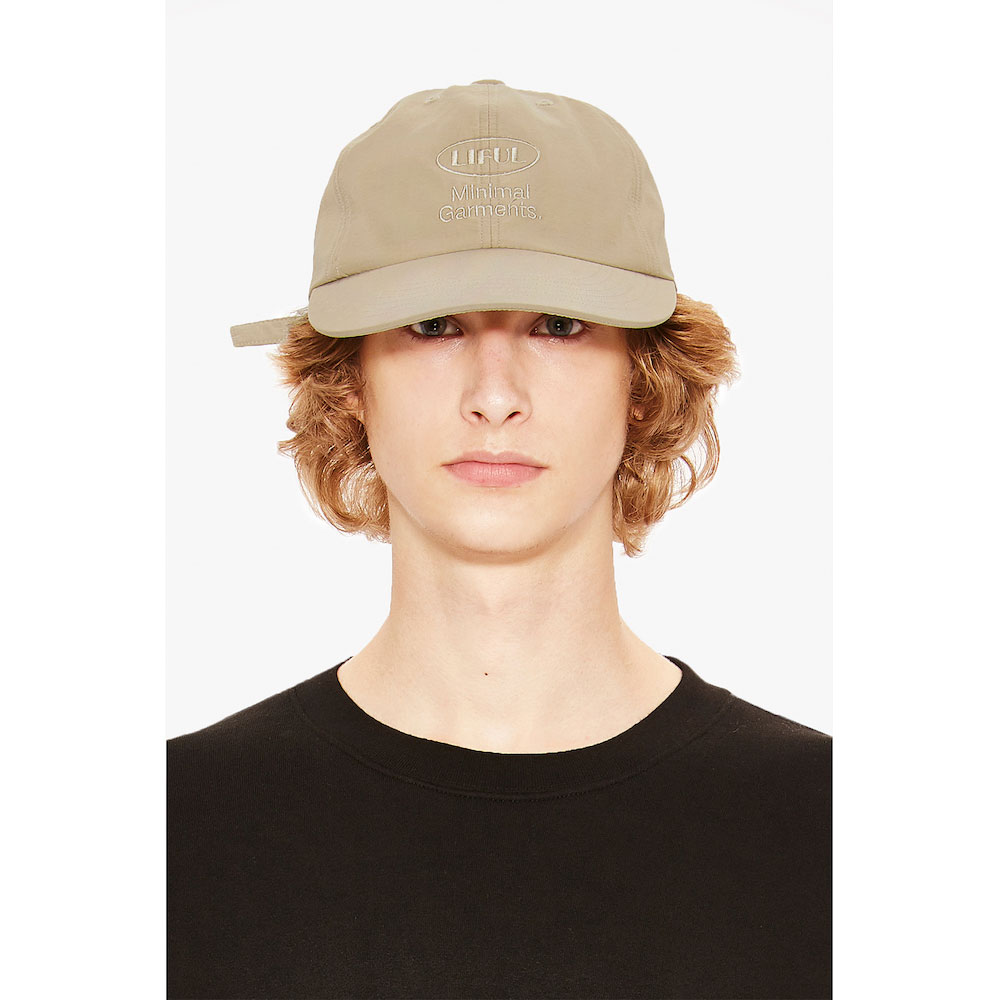 OVAL LOGO 6 PANEL CAP beige