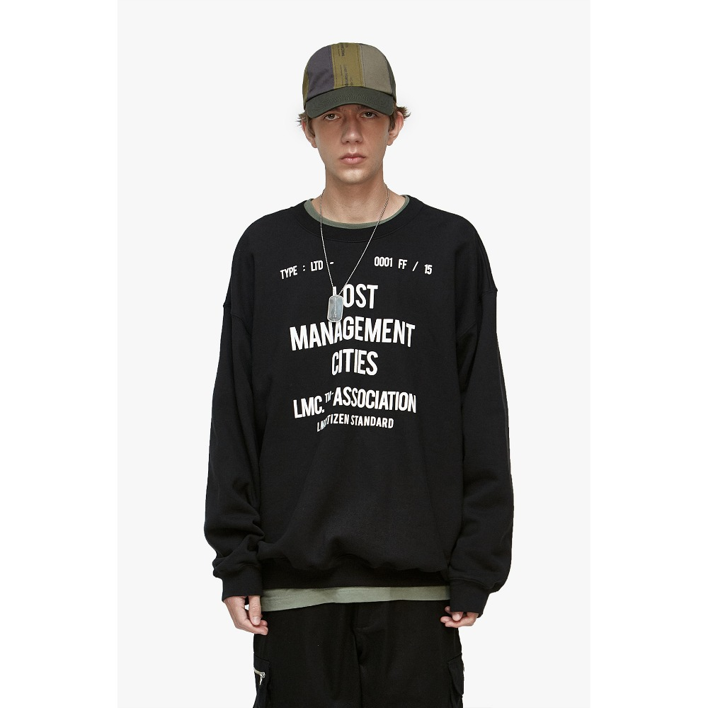 LMC DOCUMENT OVERSIZED SWEATSHIRT black