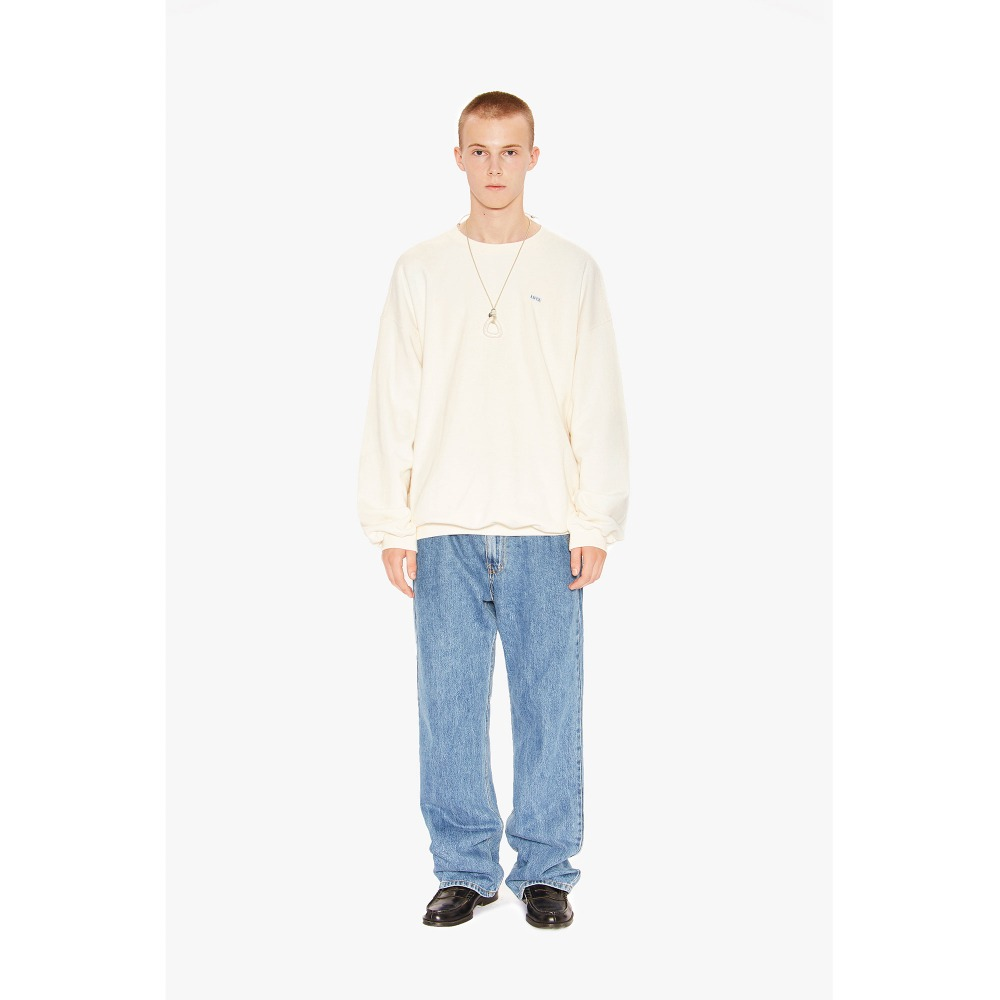 LIFUL BOX LOGO SWEATSHIRT cream