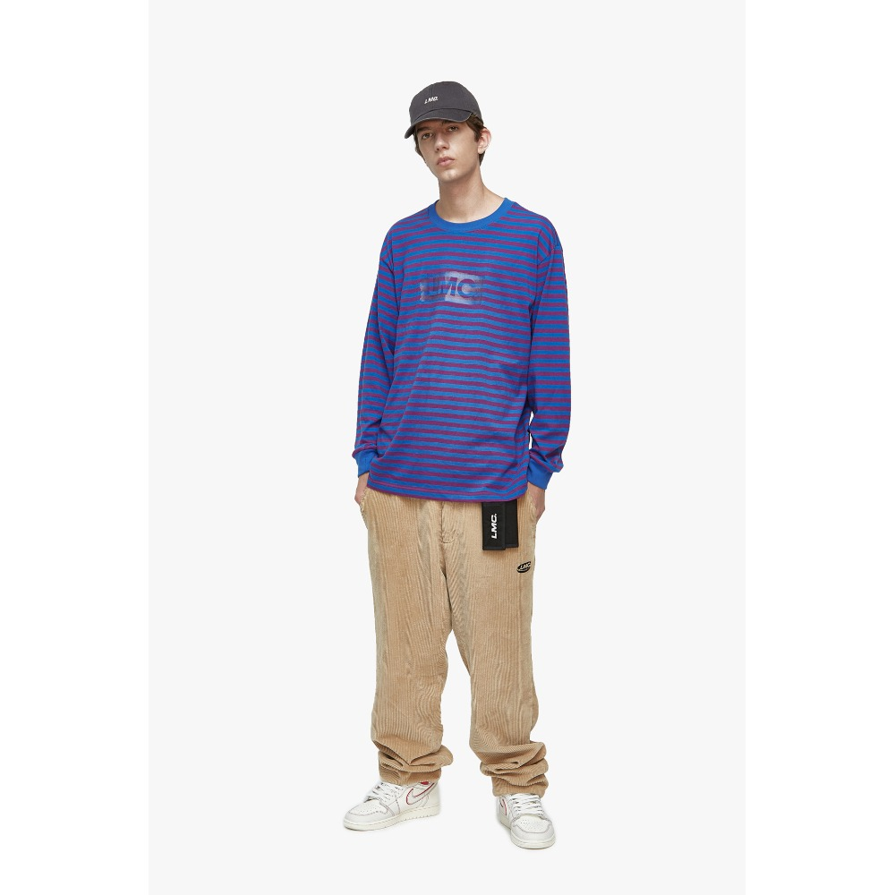 LMC PAINT BOX STRIPE LONG SLV TEE purple