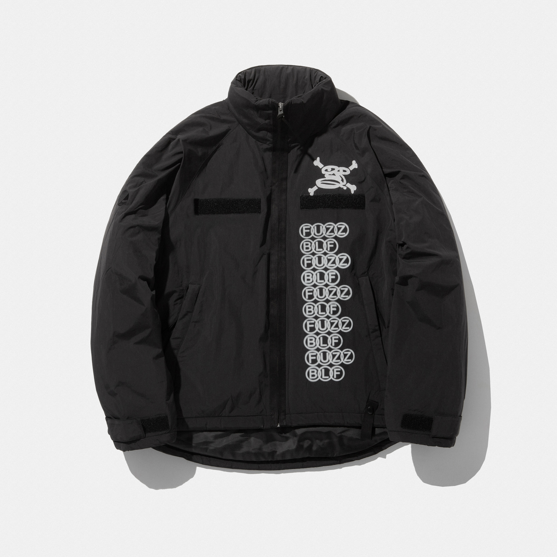 FUZZ x BLF LEVEL7 SHORT PARKA black