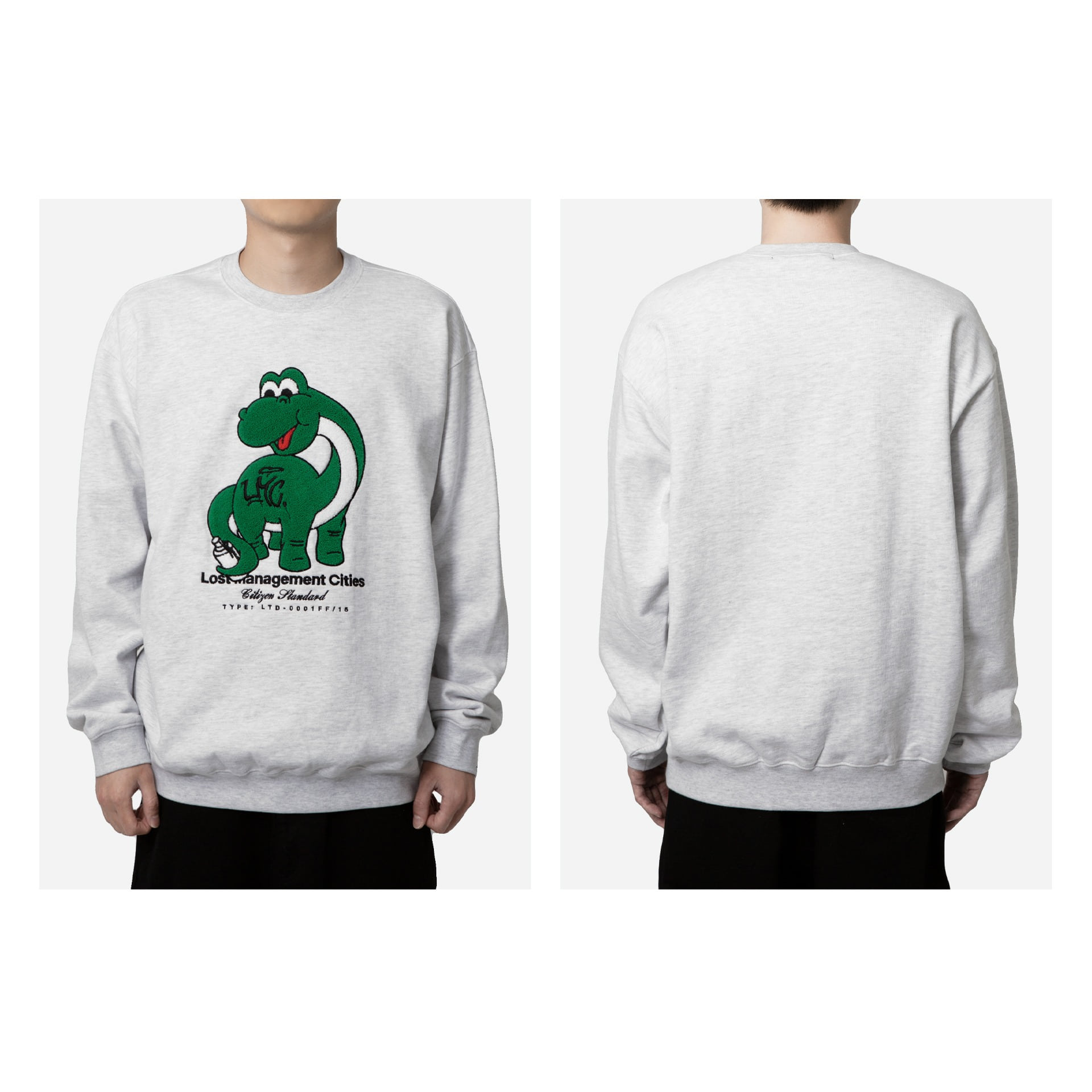 LMC DINO BOUCLE SWEATSHIRT lt. heather gray