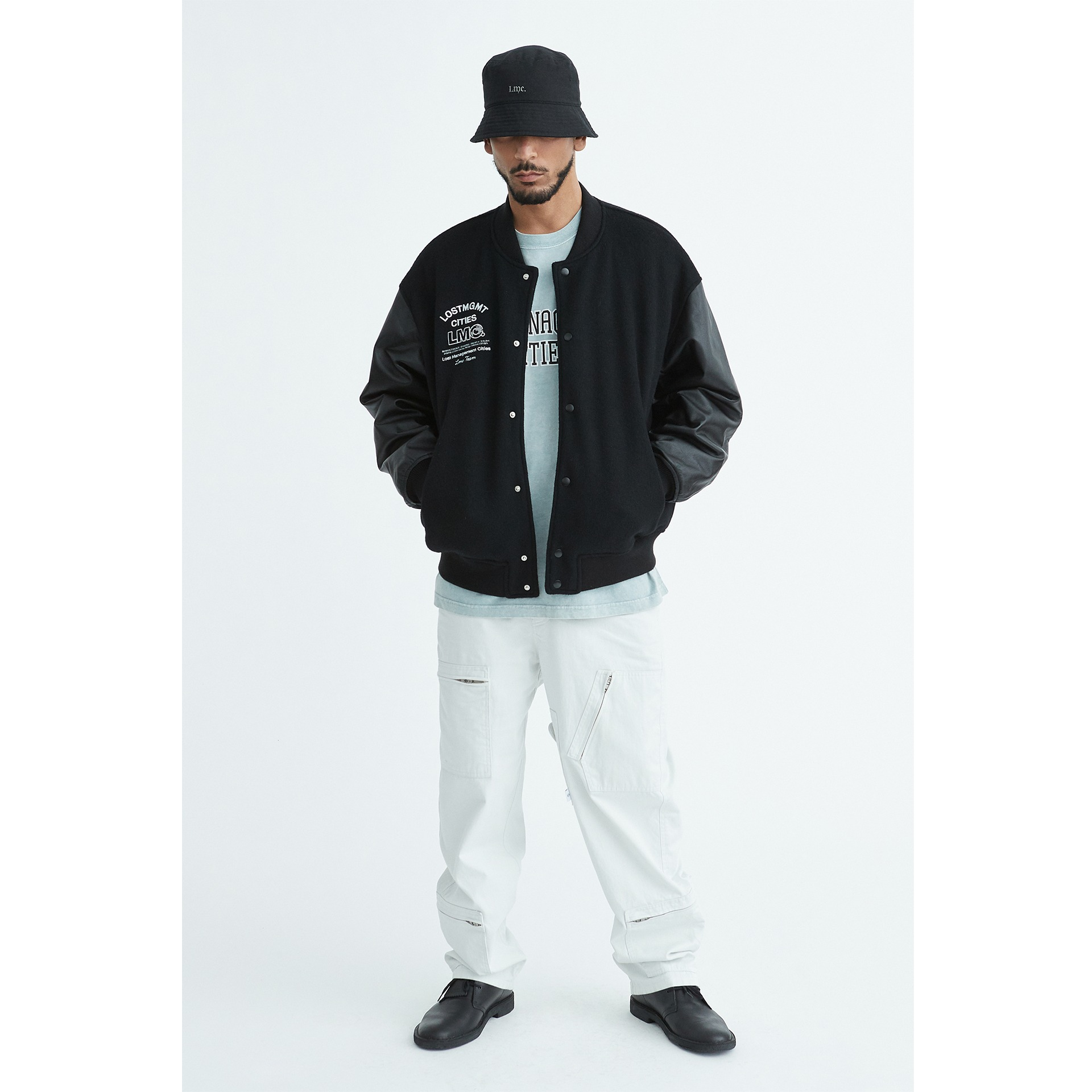 LMC STONE WASHED BUCKET HAT black