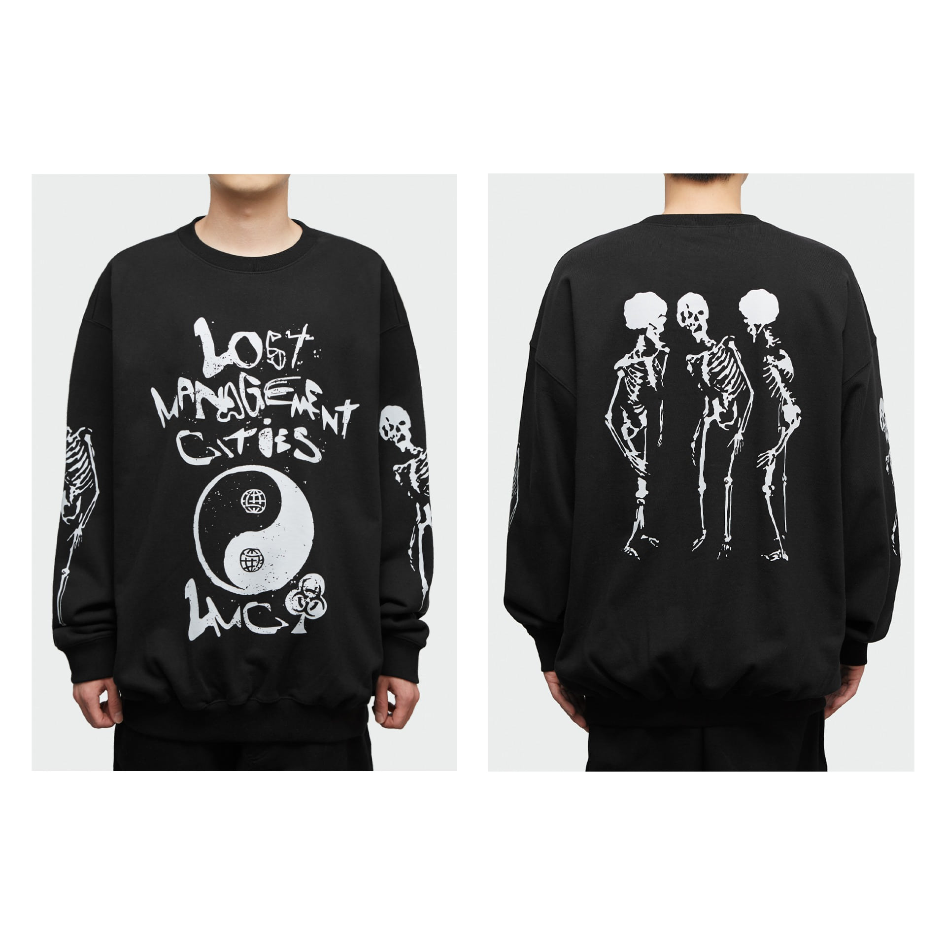 LMC BIOHAZARD OVERSIZED SWEATSHIRT black