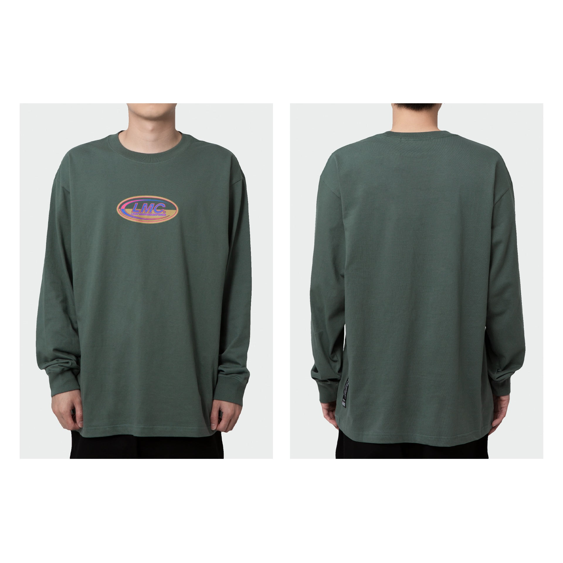 LMC CO LOGO LONG SLV TEE olive