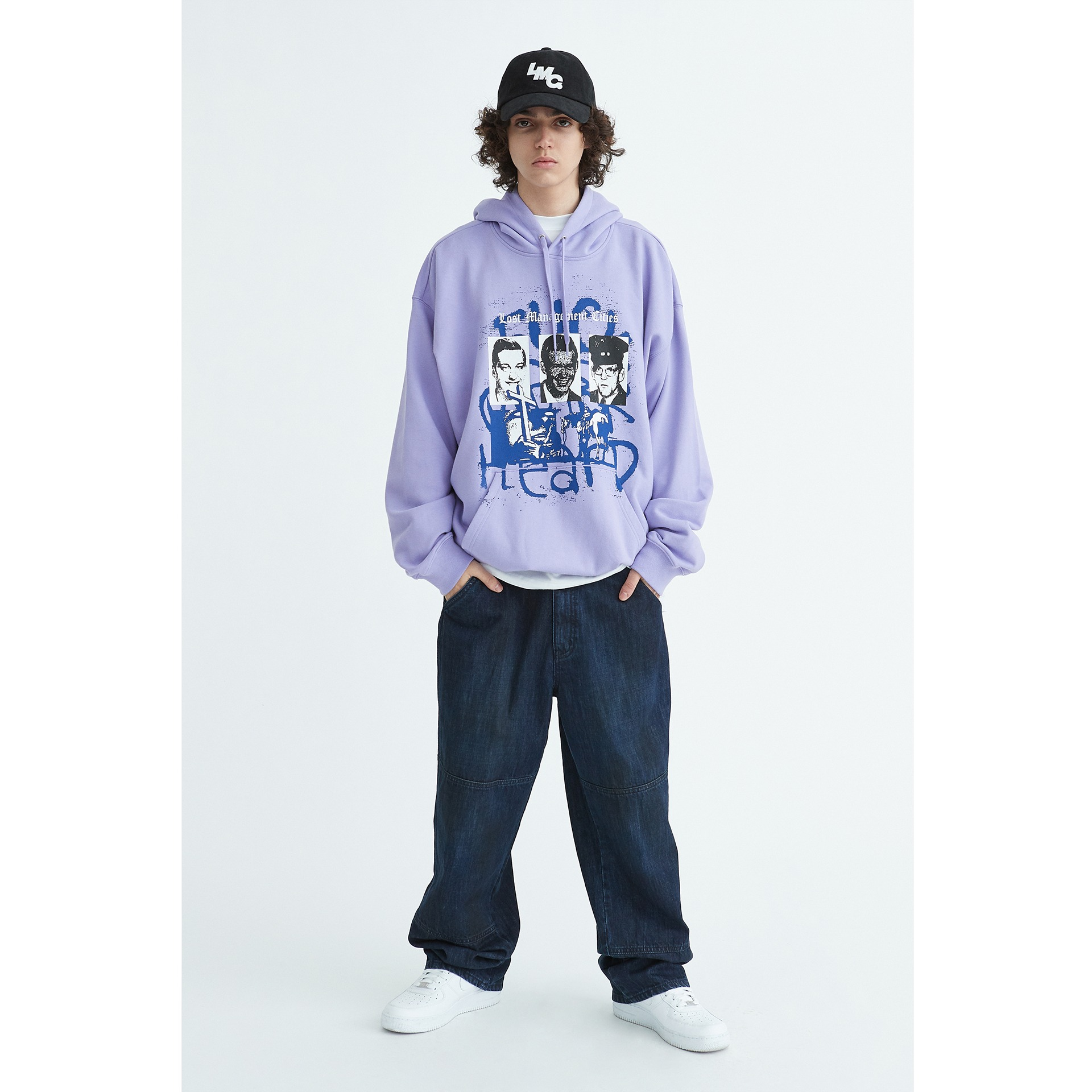 LMC DEATH OVERSIZED HOODIE powder purple