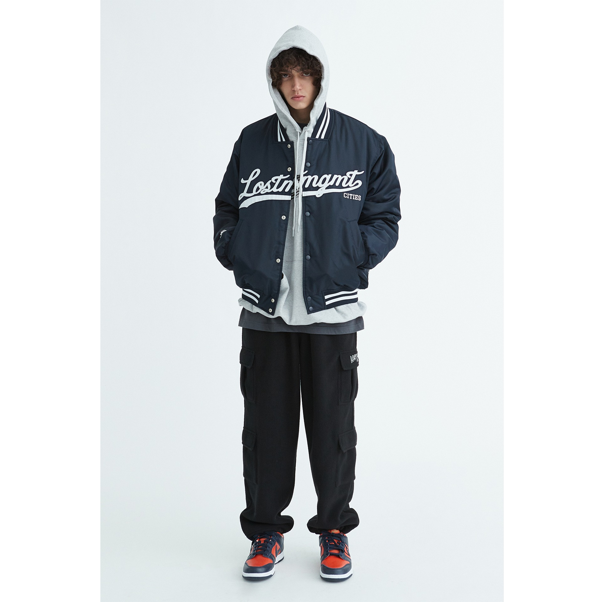 LMC EMB BASEBALL JACKET navy
