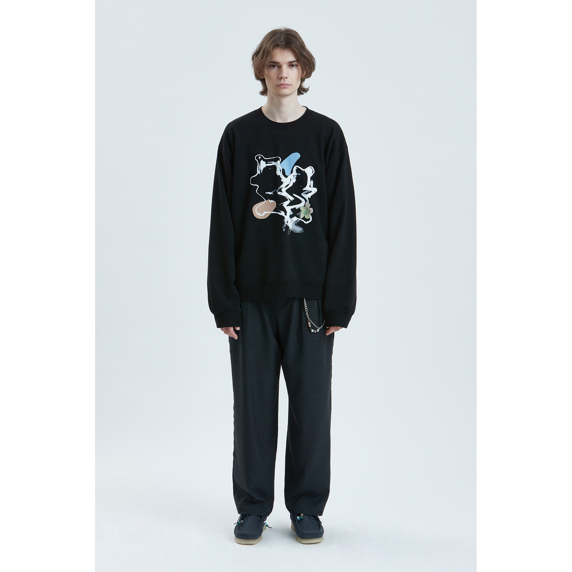 LIFUL SPREAD BEAR SWEATSHIRT black