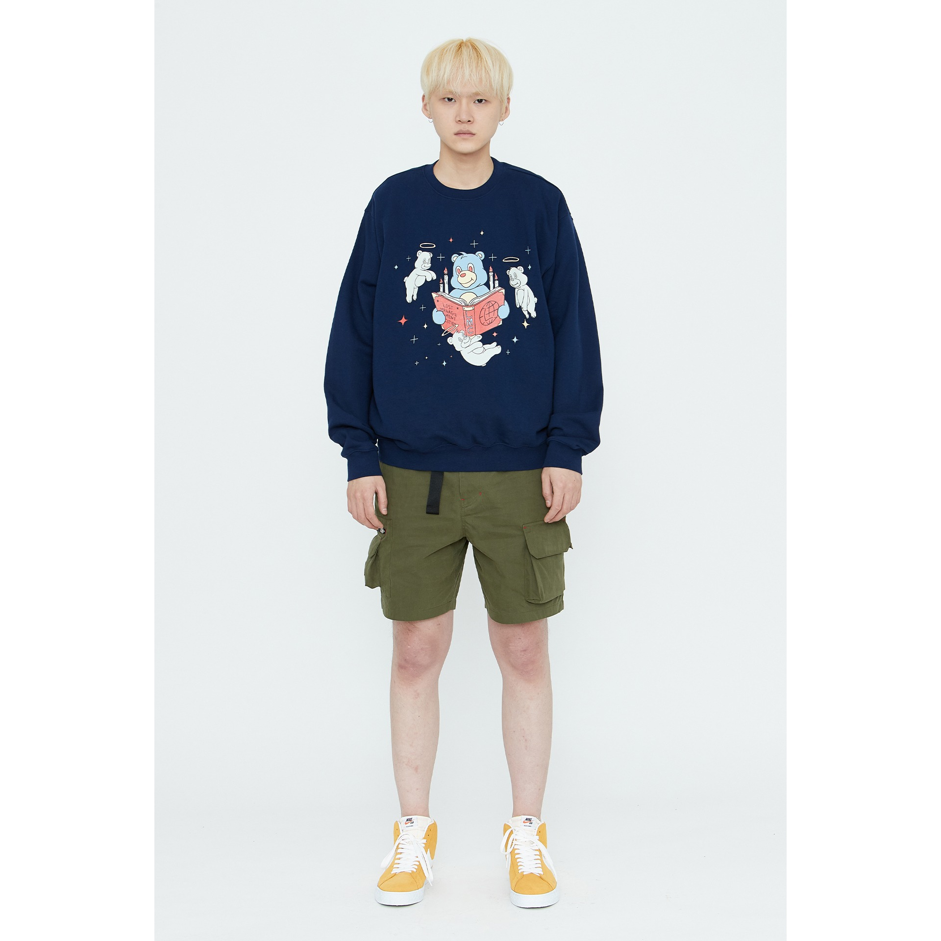 LMC REBIRTH BEAR SWEATSHIRT navy