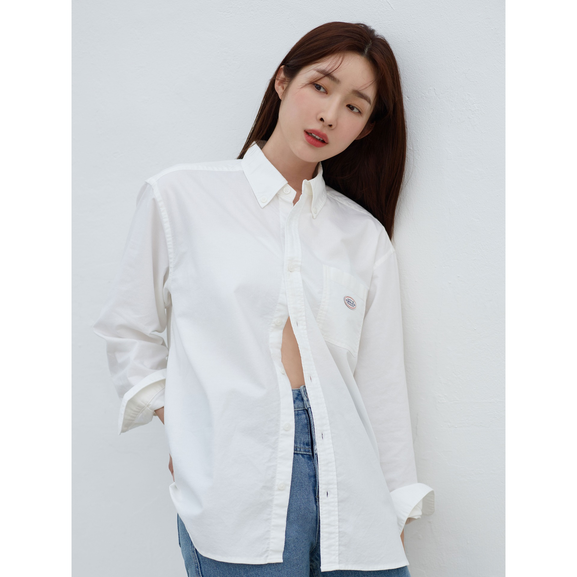 MARITHE RELAXED SHIRT white