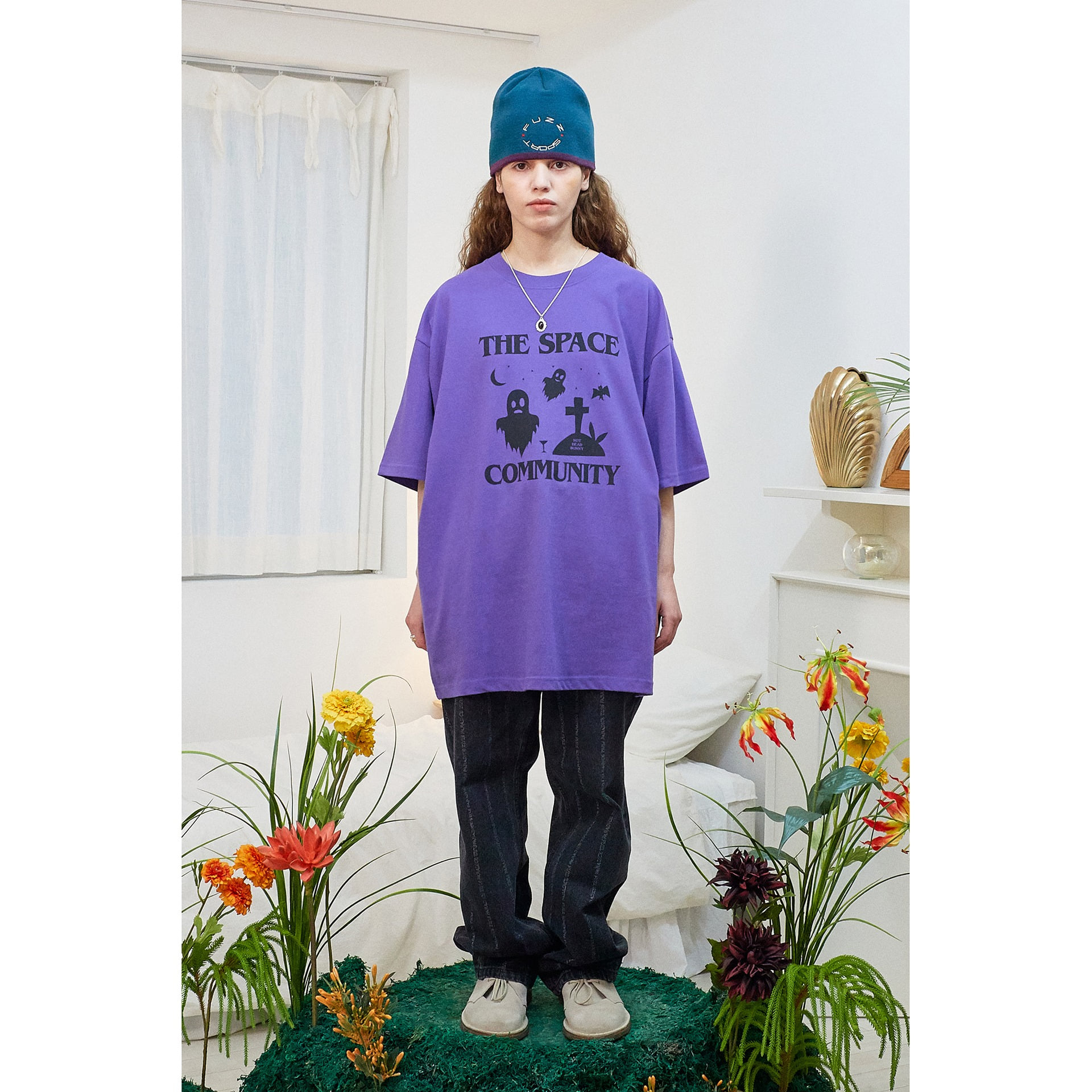FUZZ NOT DEAD BUNNY S/S TEE purple