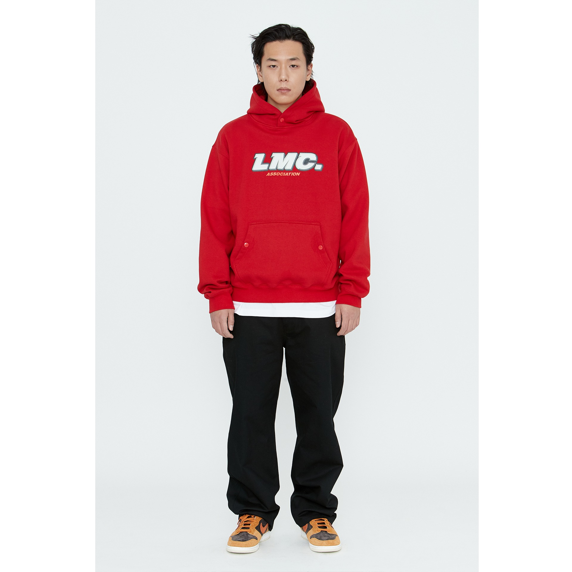 LMC ASSOCIATION SNAP HOODIE red