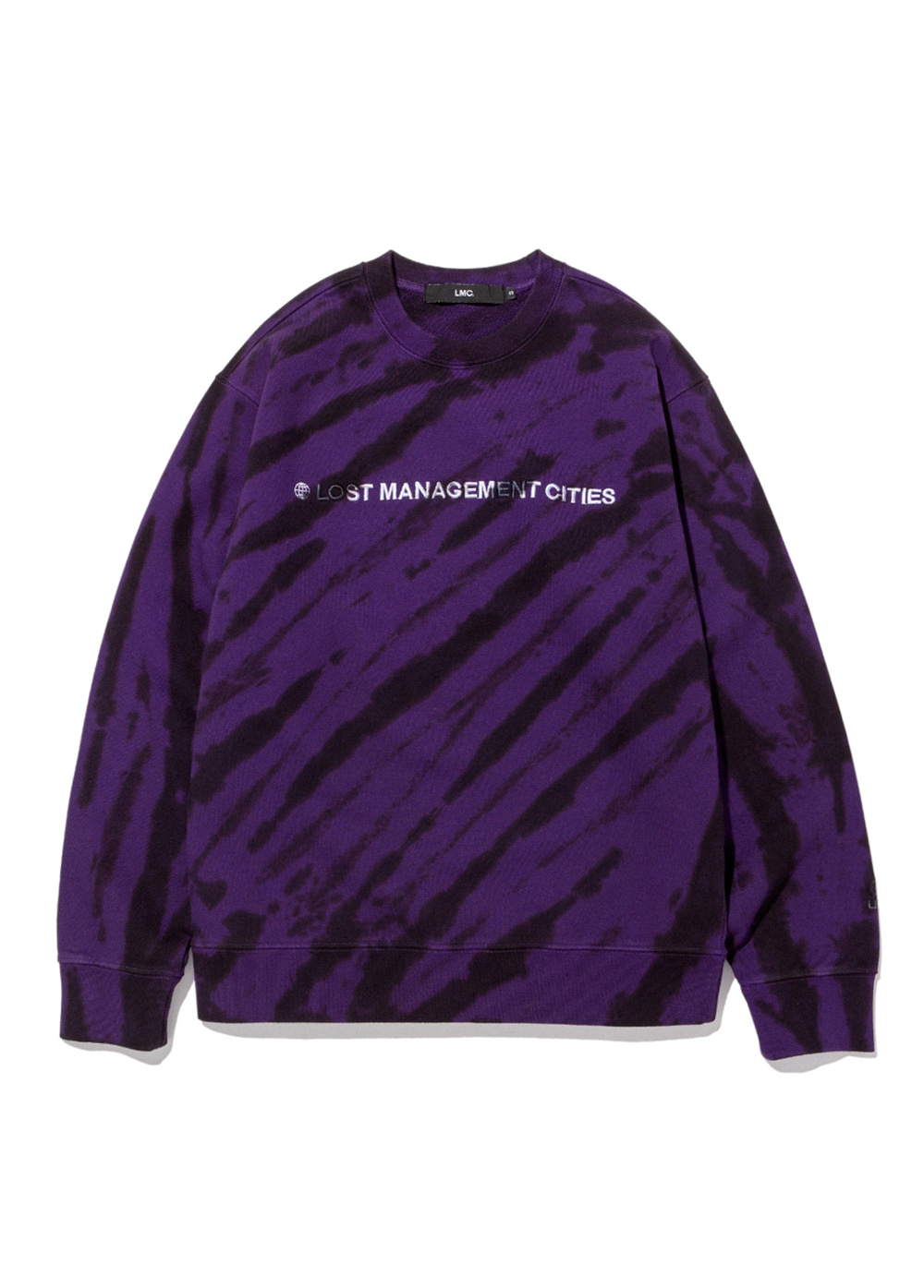 LMC CAPITAL LOGO TIE DYE SWEATSHIRT purple