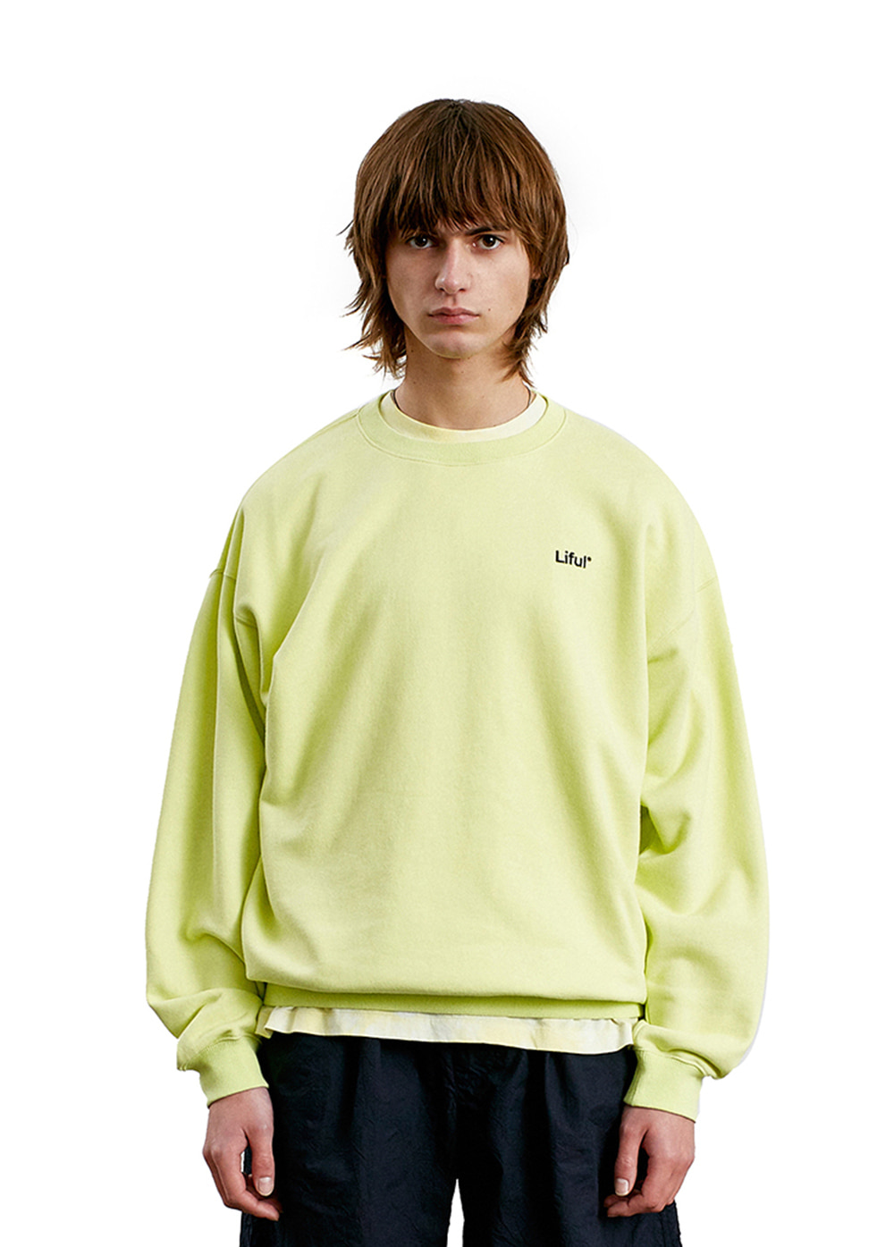 LIFUL LOGO SWEATSHIRT lemon