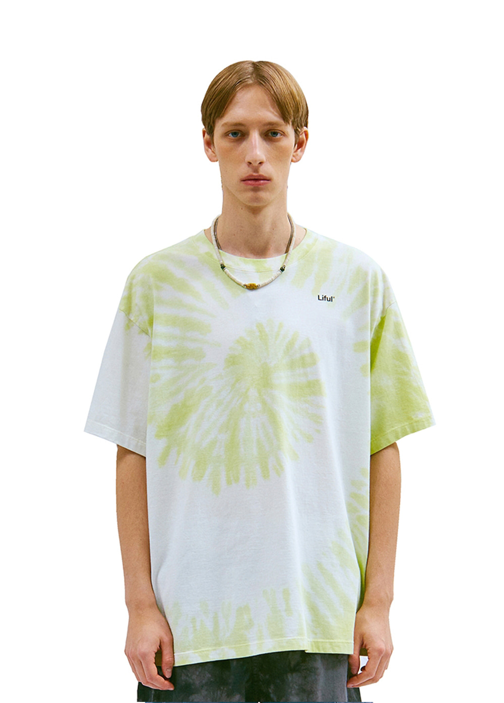 SPIRAL TIE DYE TEE lime