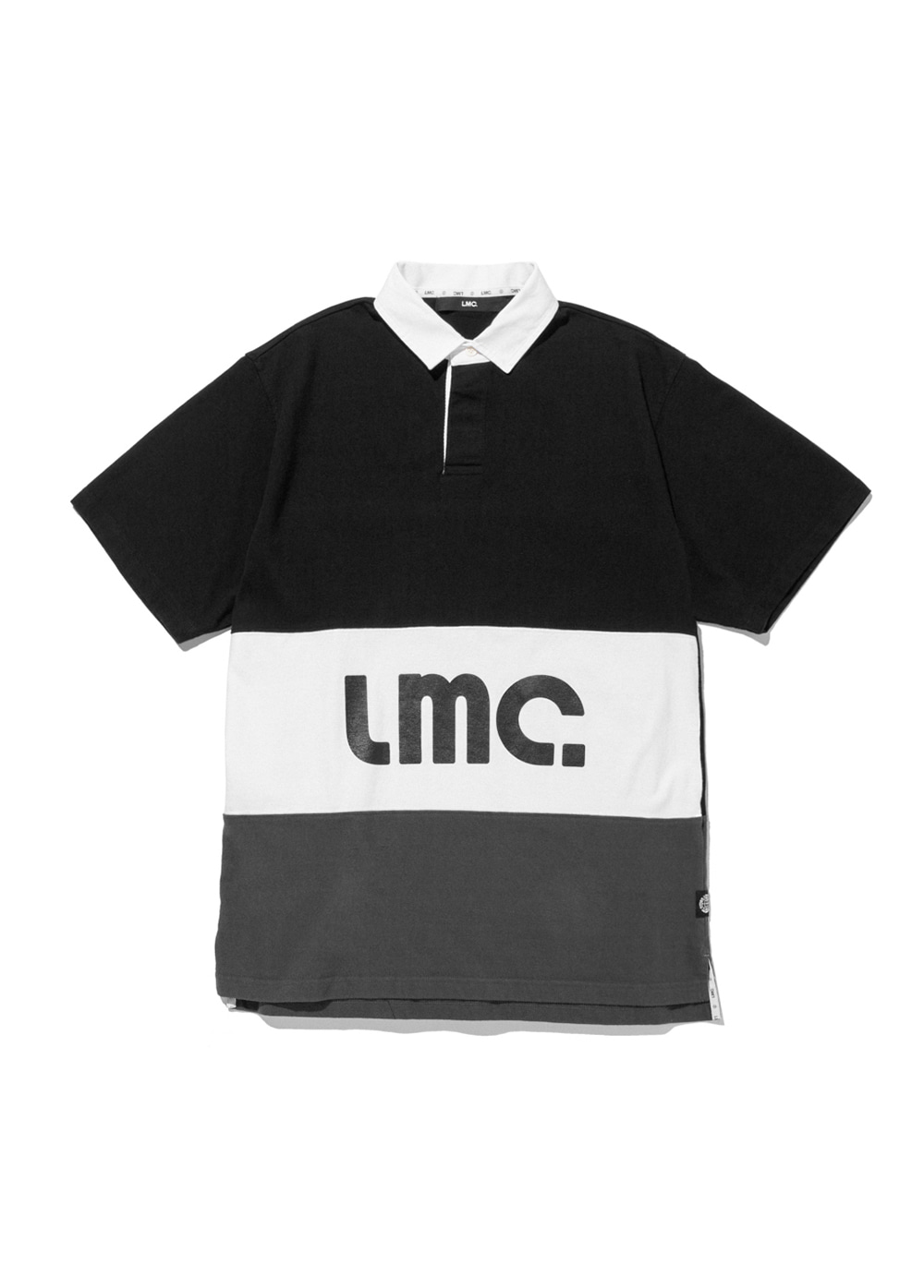 LMC SHORT SLV RUGBY SHIRT black