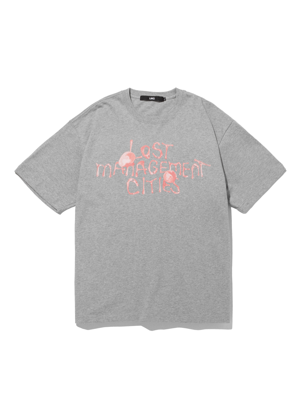 LMC BUBBLE GUM TEE heather gray