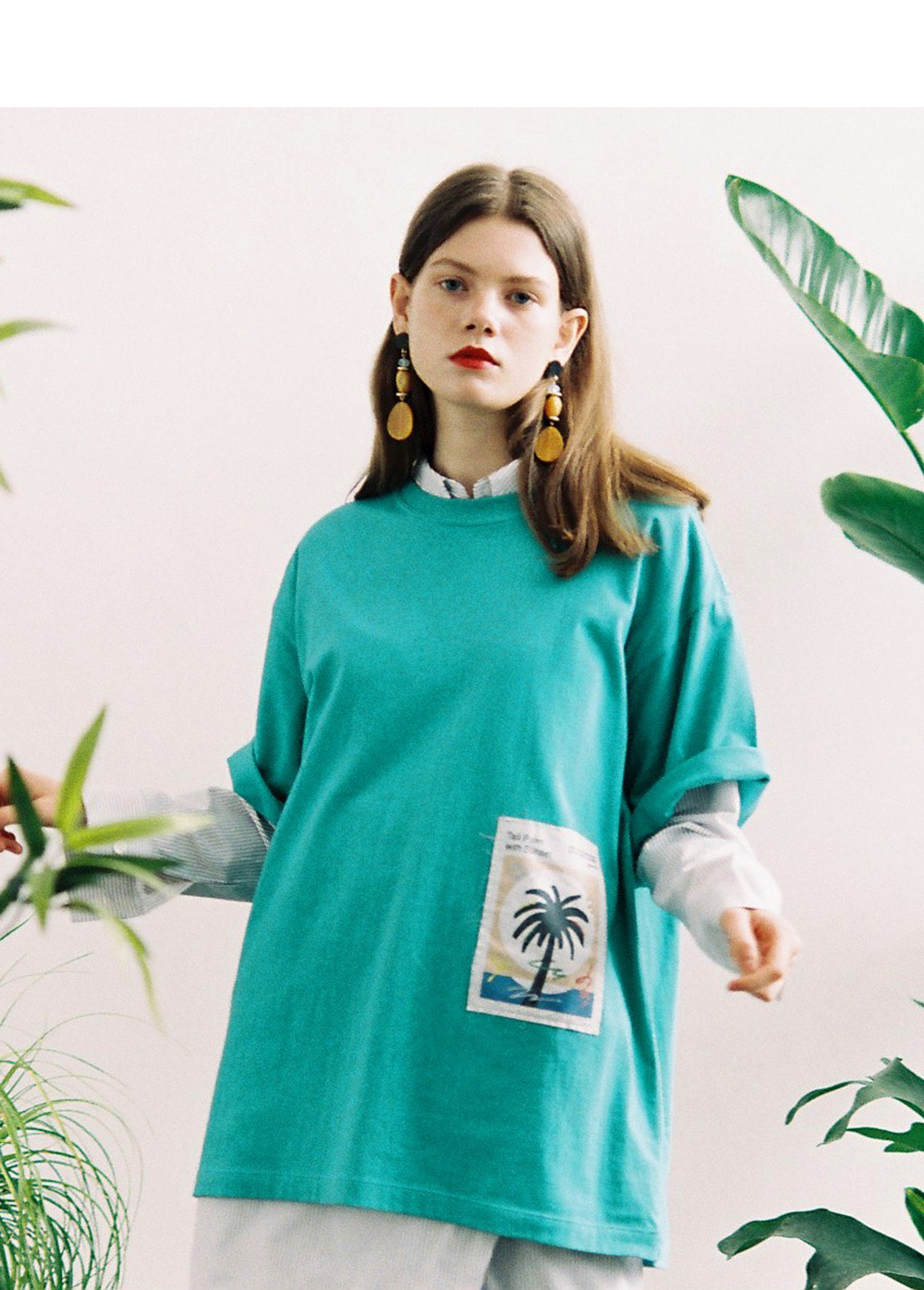 LIFUL X JORDY PATCH PARMTREE TEE mint