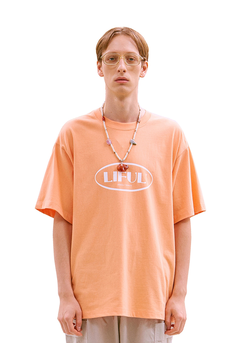 OVAL LOGO TEE coral
