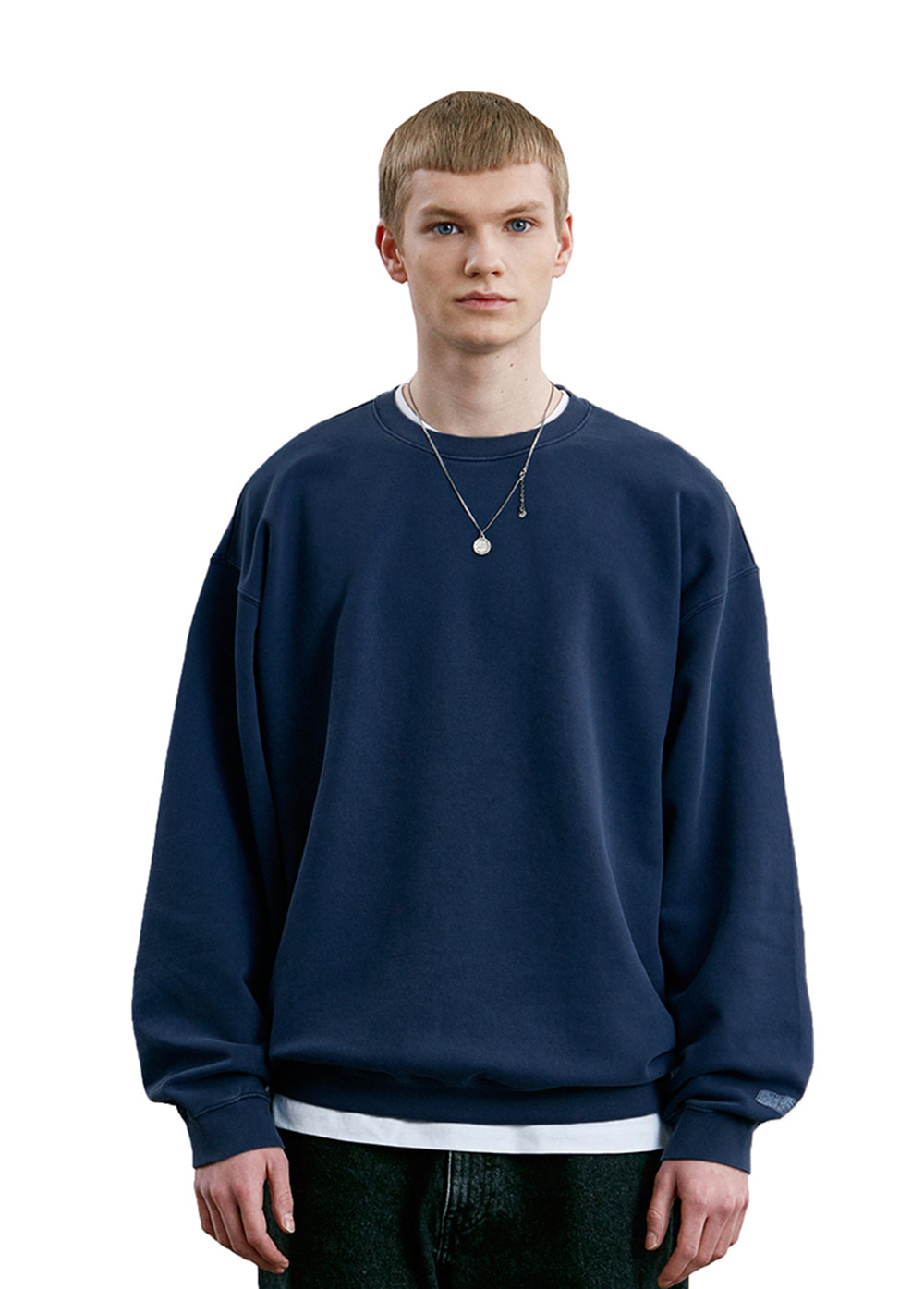 LABEL P-DYED SWEATSHIRT navy