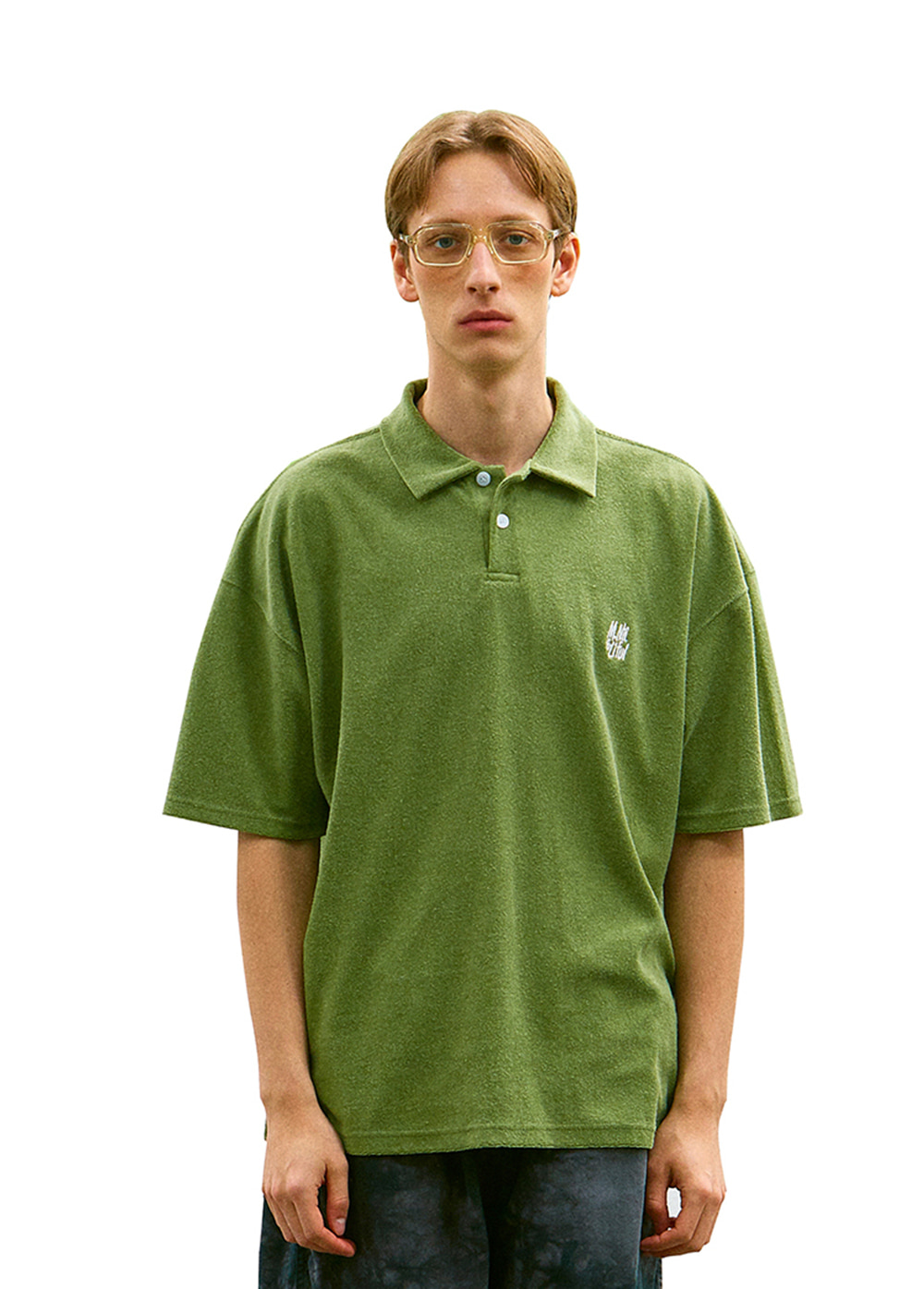 LIFUL X M.NII TERRY POLO SHIRT khaki