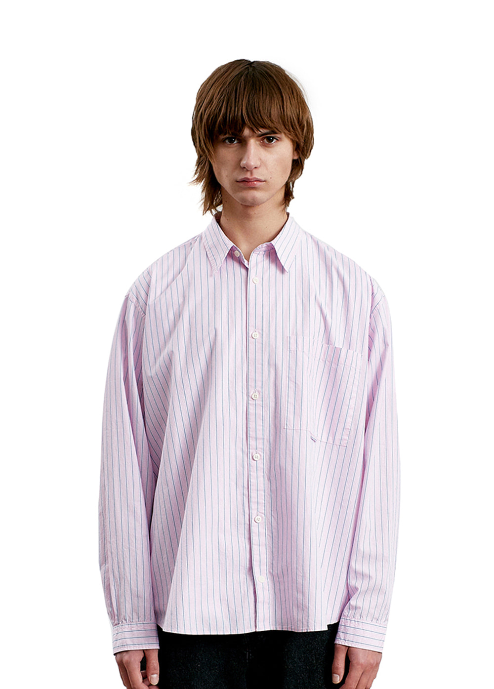 CLASSIC POCKET SHIRTS pink stripe