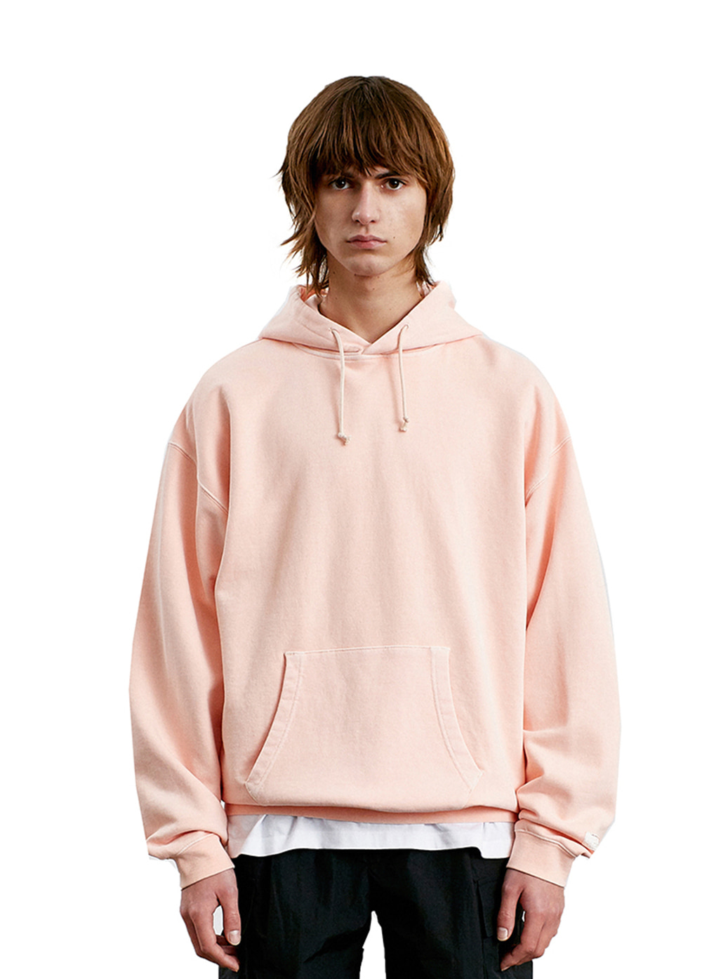 LABEL P-DYED HOODIE coral