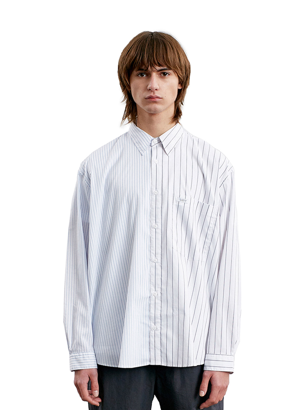 STRIPE MIX SHIRT white