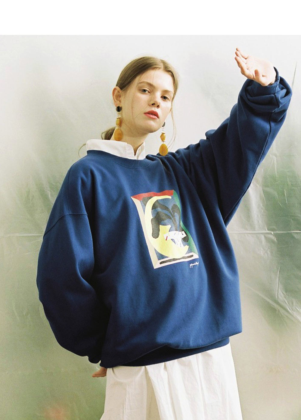 LIFUL X JORDY PLANT SWEATSHIRT blue
