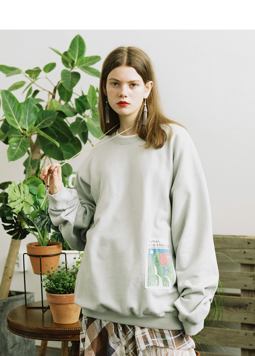 LIFUL X JORDY PATCH SWEATSHIRT mint