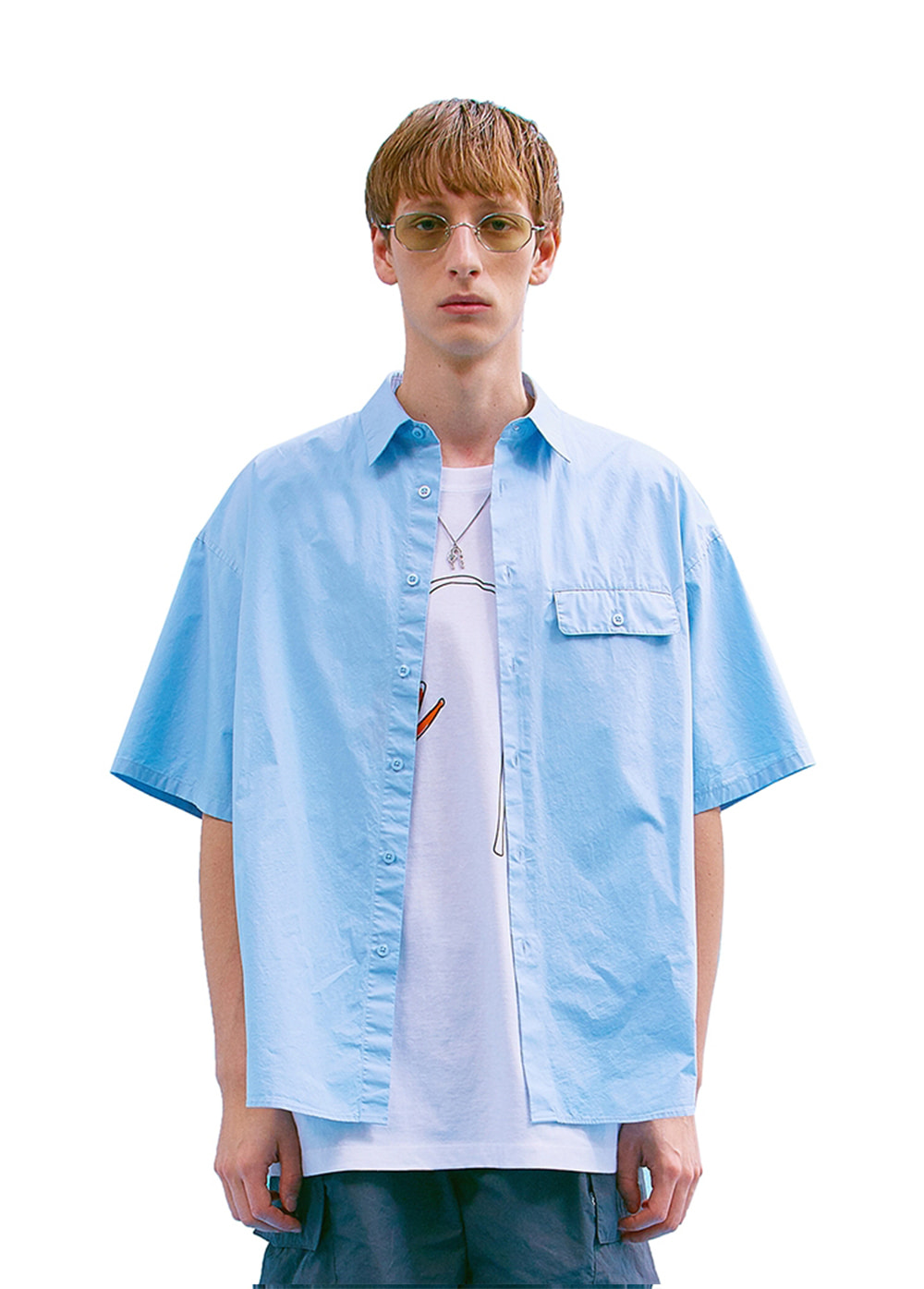 FLAP POCKET SHIRT sky blue