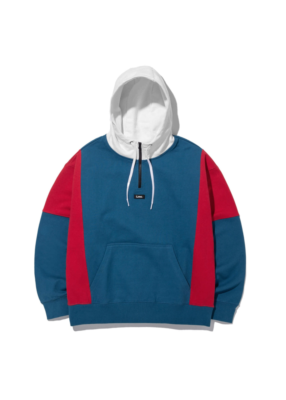 LMC QUARTER ZIP-UP OVERSIZED HOODIE dk blue