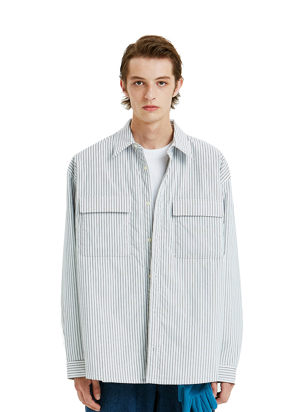 PADDING SHIRT JACKET stripe