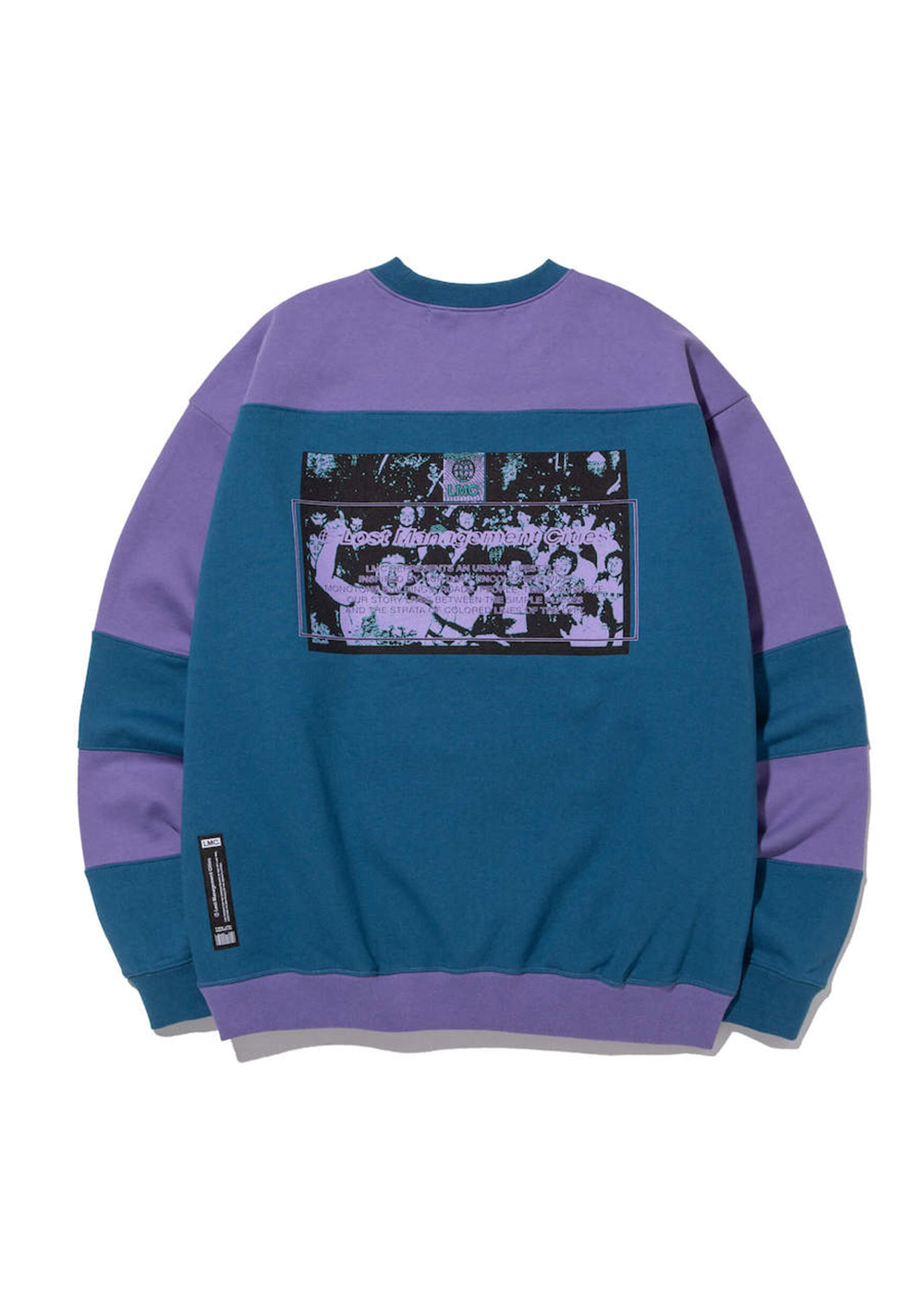 LMC SPLIT OVERSIZED SWEATSHIRT purple