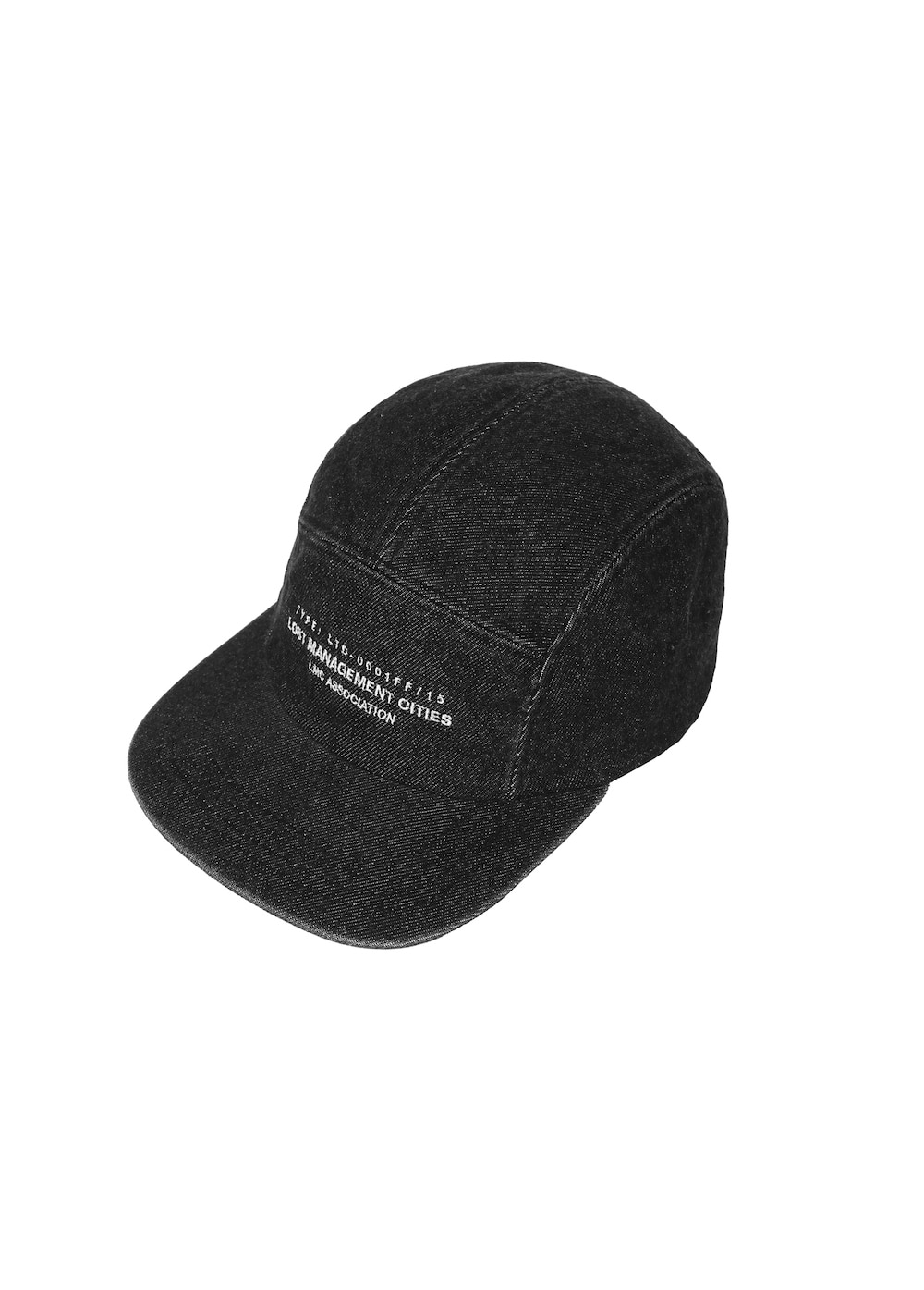 LMC RUBBER PATCH DENIM CAMP CAP black
