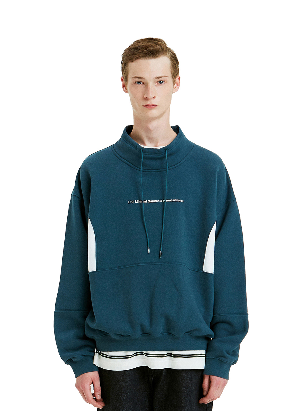 WIDE TURTLENECK SWEATSHIRT green