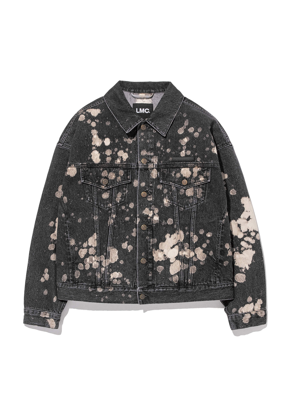 LMC RP DENIM BLEACHED TRUCKER JACKET black