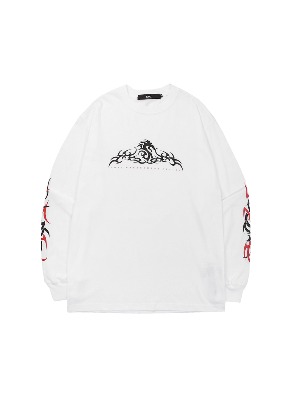 LMC TRIBAL LONG SLV TEE white