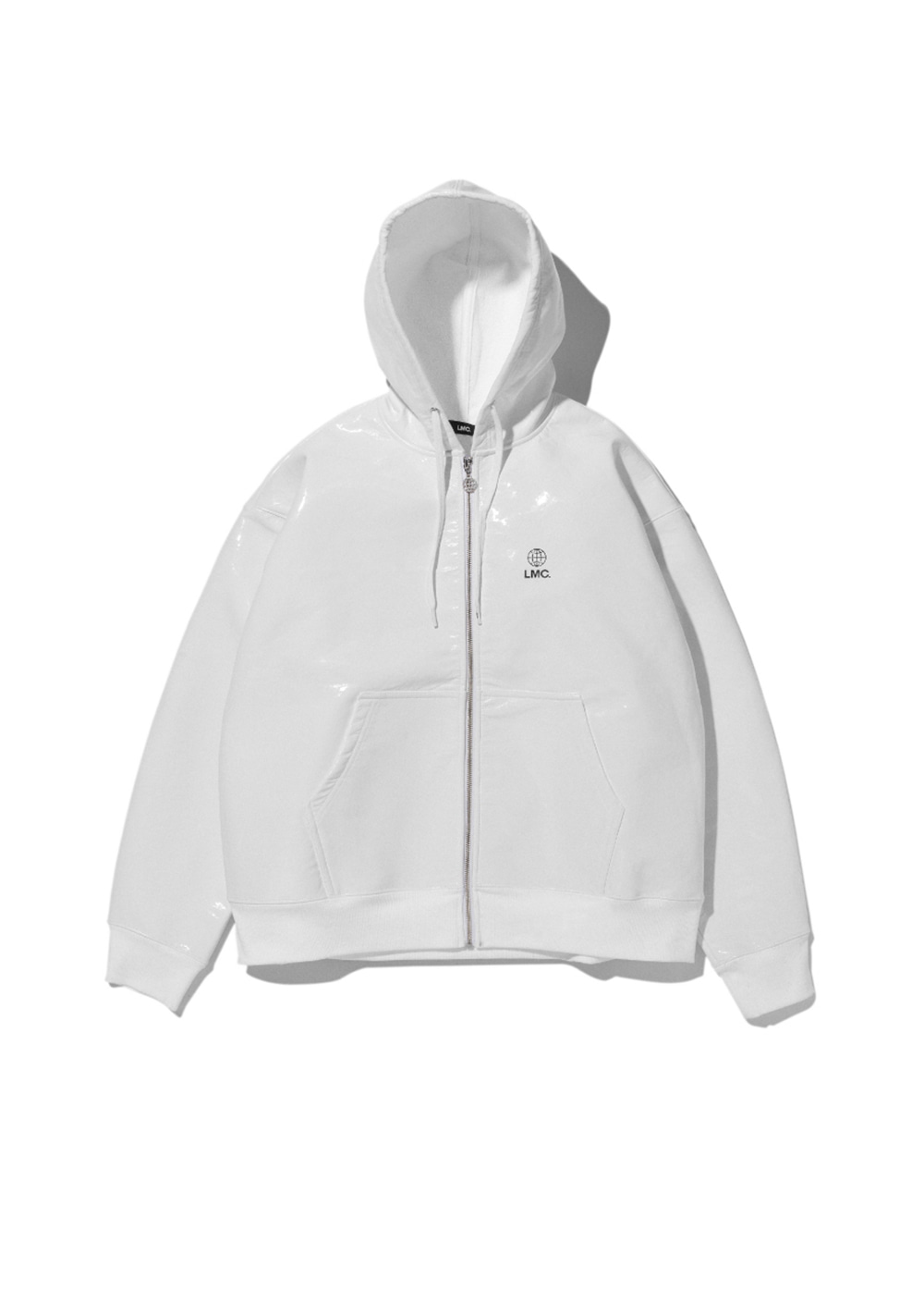 LMC PVC SWEAT ZIP-UP HOODIE white