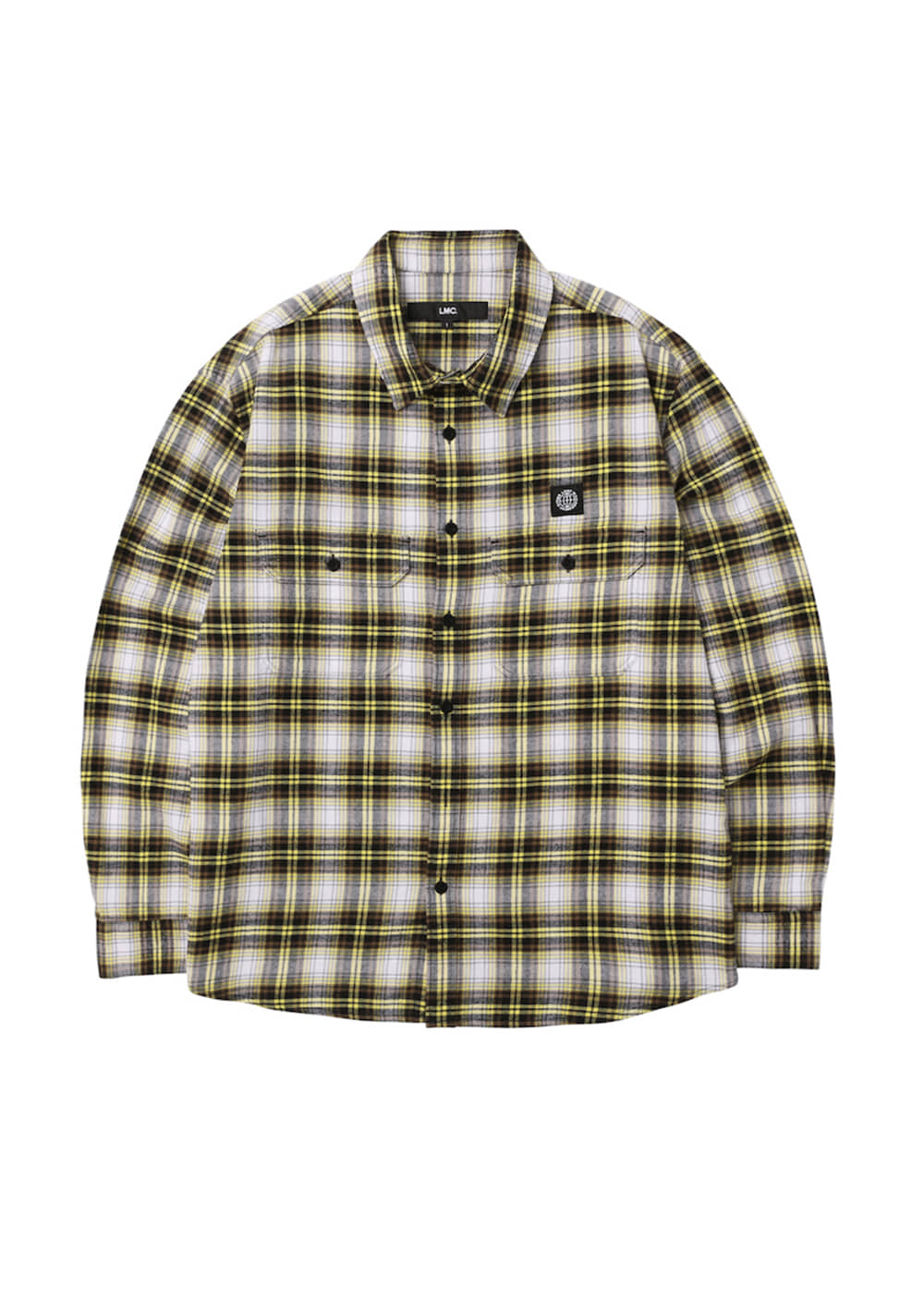 LMC B LINE PLAID SHIRT yellow