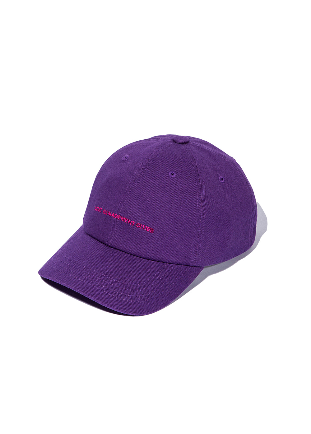 LMC CAPITAL LOGO 6 PANEL CAP purple