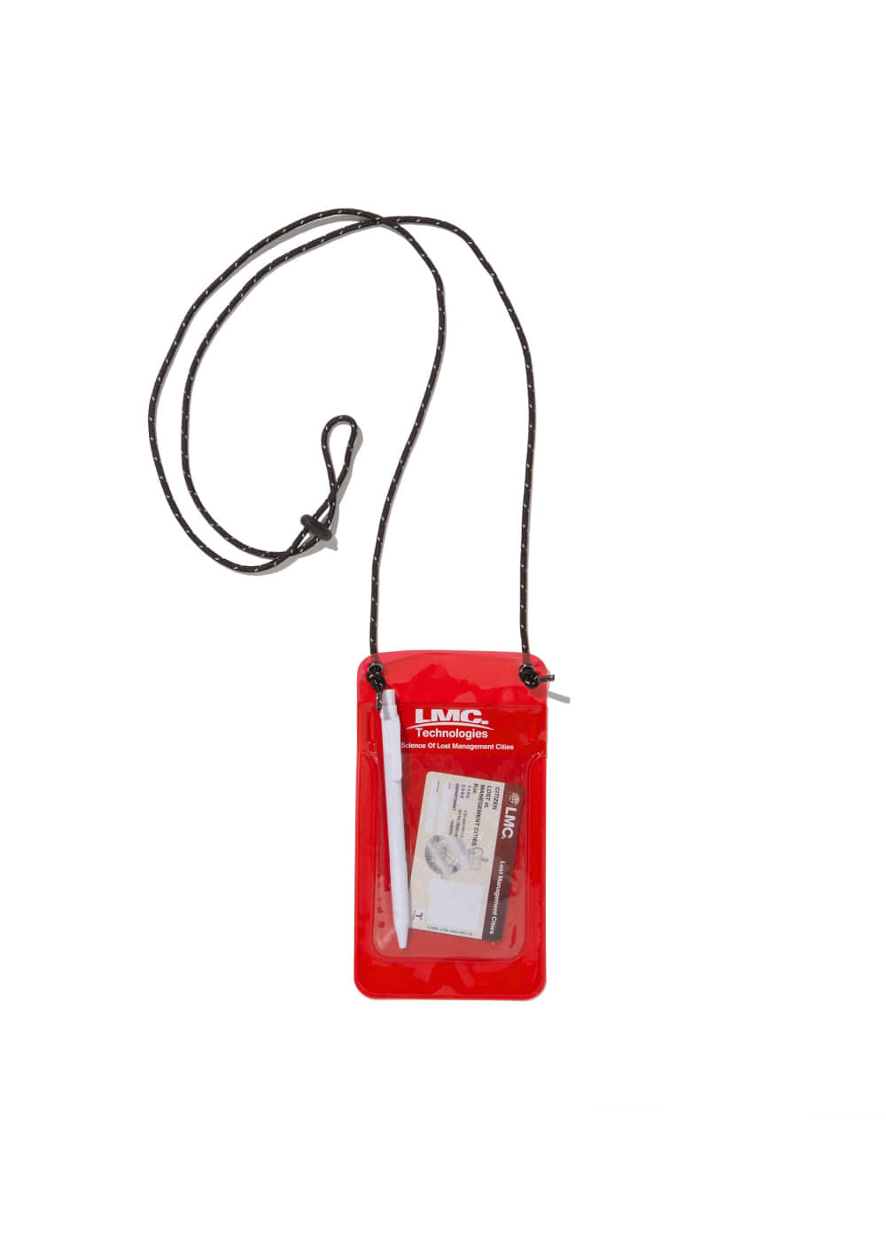 LMC PVC POCKET PROTECTOR POUCH red