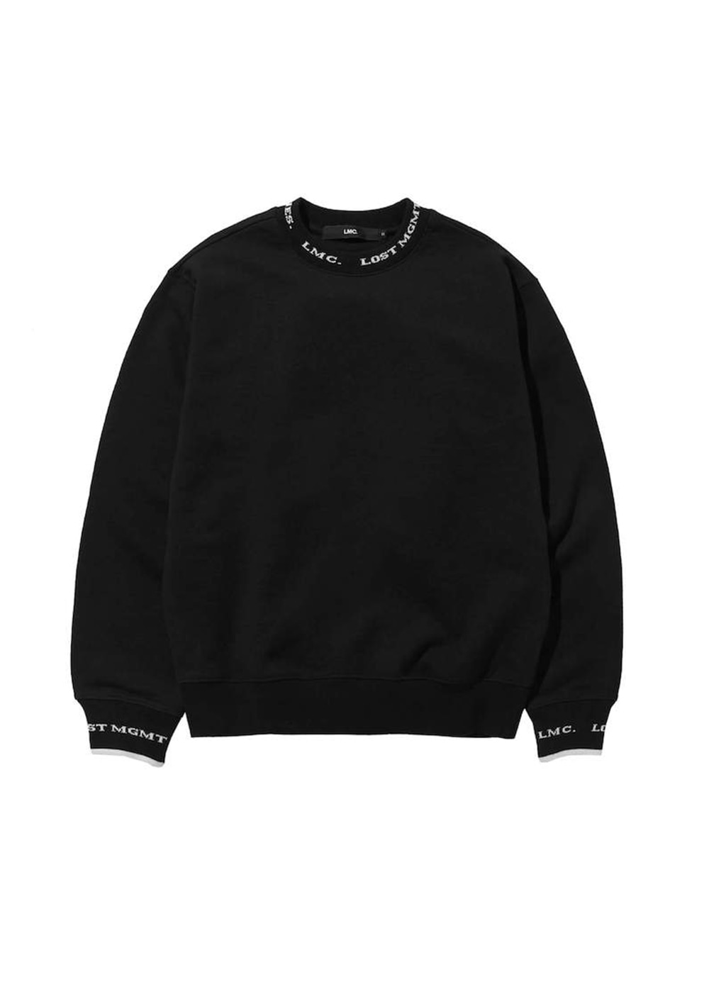 LMC LOGO JACQUARD BAND SWEATSHIRT black