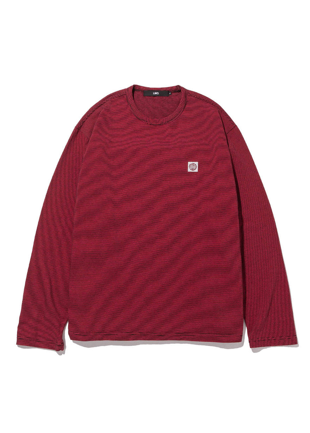 LMC REFLECTIVE WHEEL STRIPE LONG SLV TEE red