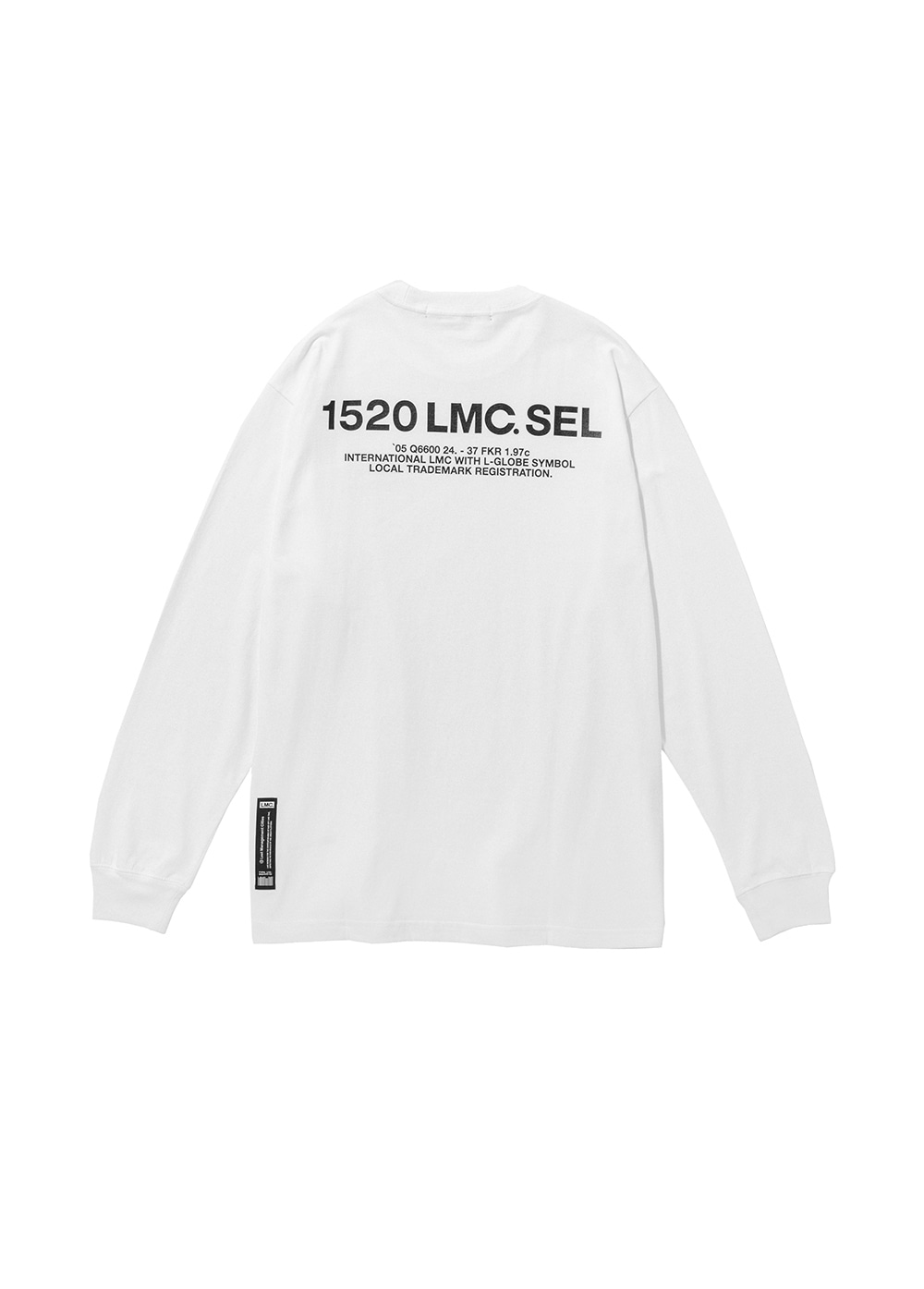 LMC SEL LONG SLV TEE white