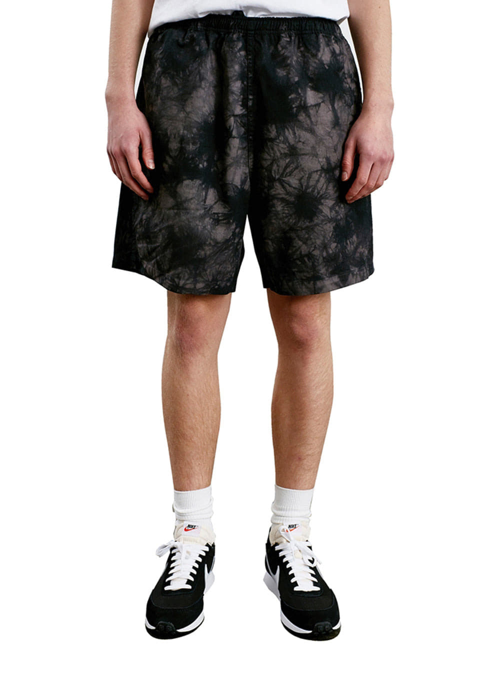TIE DYE EASY SHORTS black