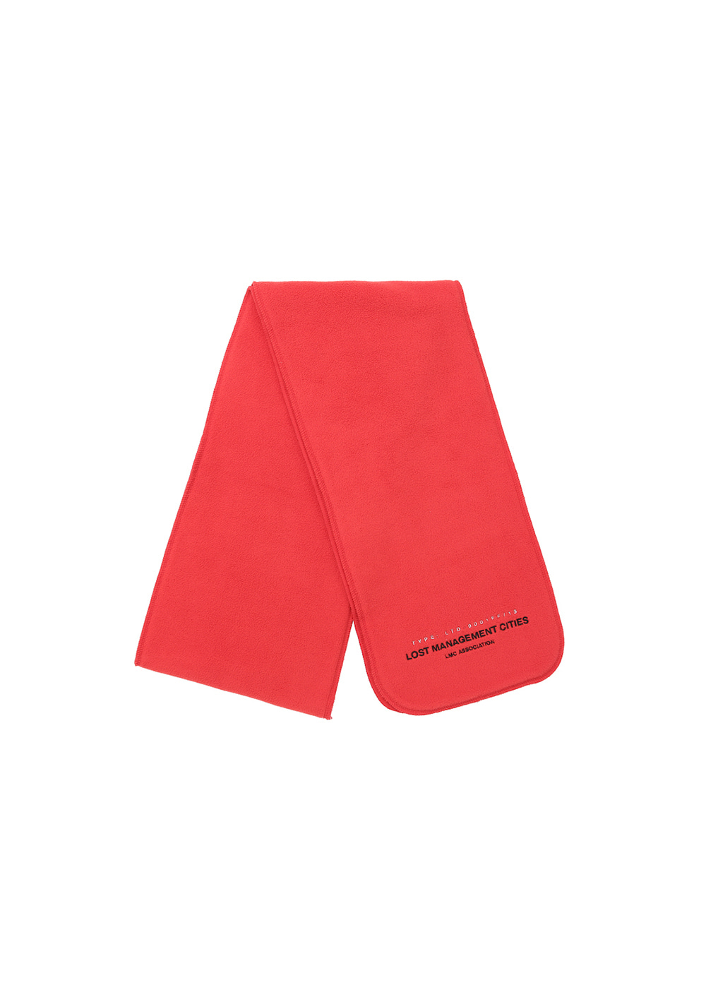 LMC FLEECE MUFFLER red