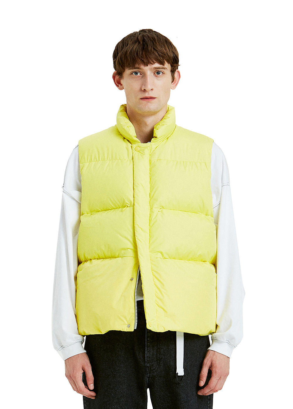 MINIMAL HEAVY DOWN VEST yellow